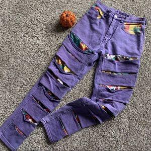 •Vintage• Dakota Blue 80's Shredded Jeans 7/8